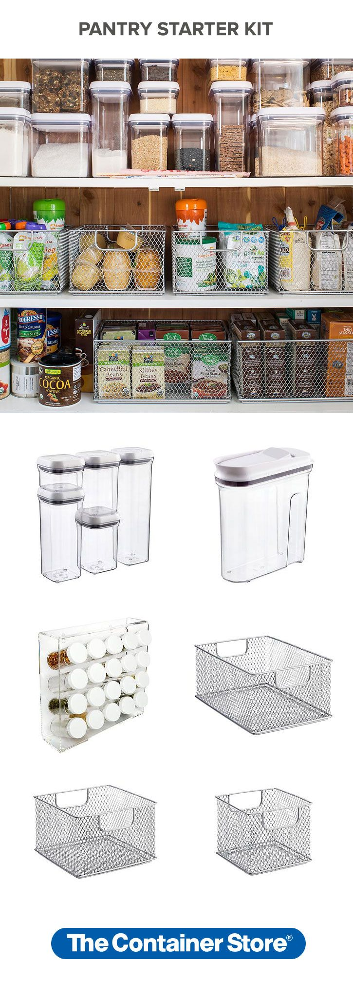 Have you put off getting your pantry in order because you just didn't know where to start? Well you're going to love our Pantry Starter Kit. From Linus Pantry Binz to canisters and spice racks, we've put everything you need to get your pantry in order in one convenient kit!