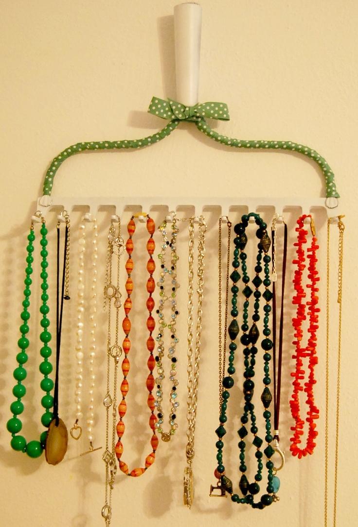 Hanging Necklace Organizer 25 Best Rake Jewelry Holder Ideas On Pinterest Rake Ideas