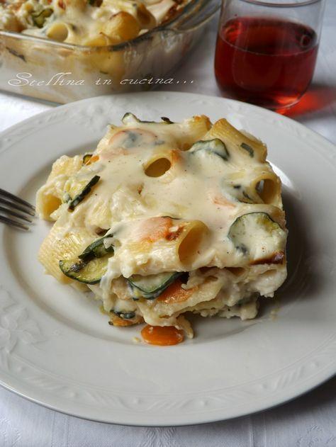 Pasta al forno leggera con verdure