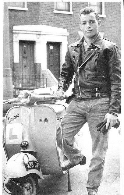 Vespa scooter. London 1960's