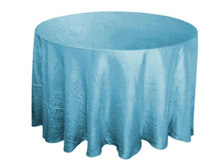 sky blue round satin tablecloths