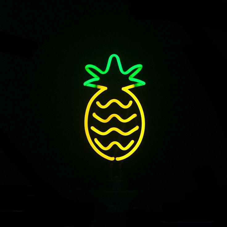 CHIBUY Pineapple Neon Light Sign Neon Sculpture 35cm x14cm x14cm Neon Sign Real Glass Neon Light