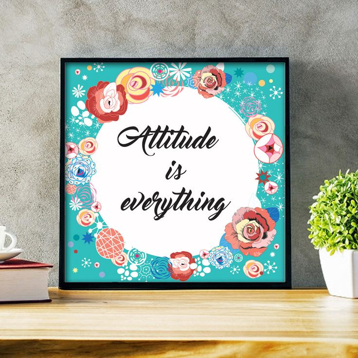Un favorito personal de mi tienda de Etsy https://www.etsy.com/es/listing/554350503/attitude-is-everything-printable-quote