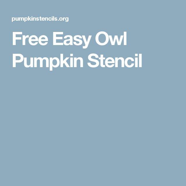 Free Easy Owl Pumpkin Stencil