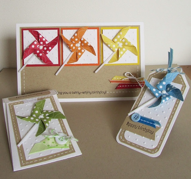 #Pinwheel #polka dot parade dsp #Stampin'Up