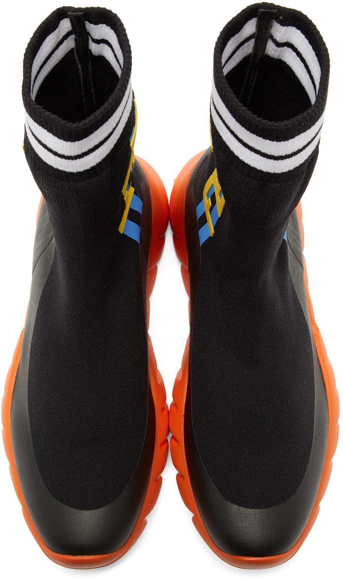 Fendi - Black \u0026 Orange Sock 'Think