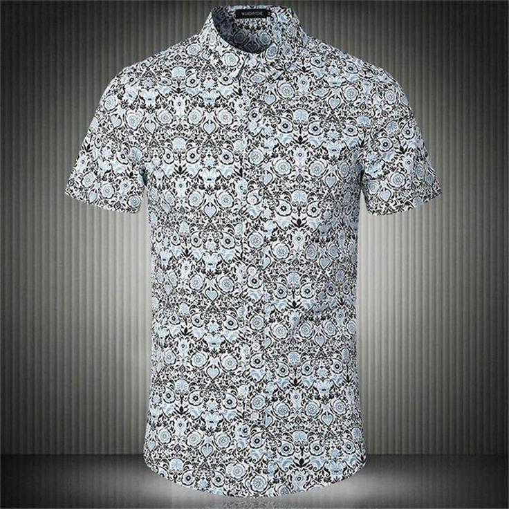 Men's Summer Slim Fit Short Sleeve Dress Shirt – Zorket