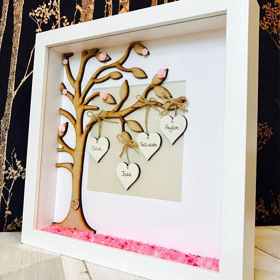 Family Tree Frame Personalised Family Tree Gift Frame Family