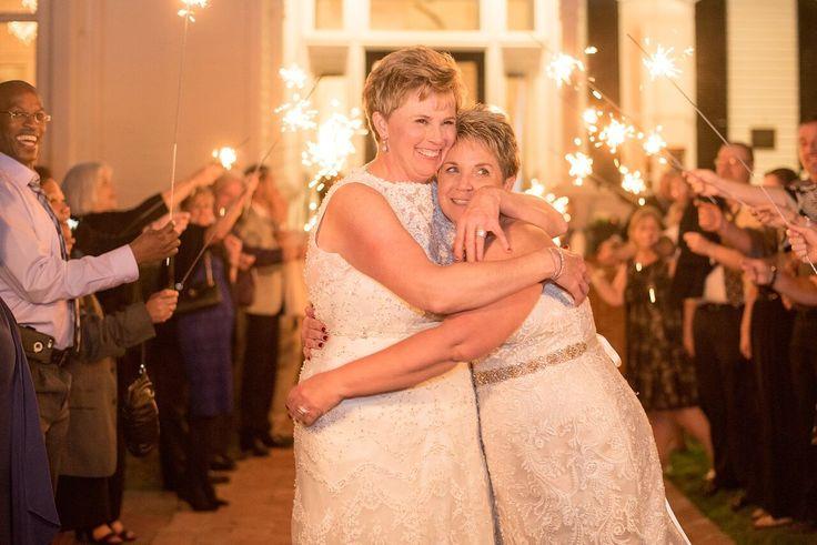 Autumn Colored Wedding in North Carolina- same sex wedding- brides- ceremony celebration