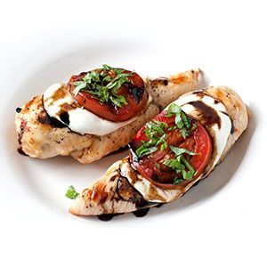 Grilled #Caprese Chicken | Kim's Healthy Eats