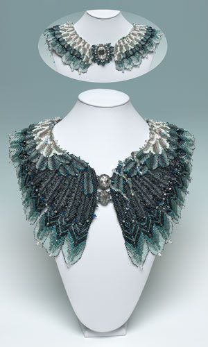 Stormy Petrel  -- Designer --  Ann Braginsky  2012 Bead Dreams Contest  Category: Seed Bead Jewelry  2nd Place