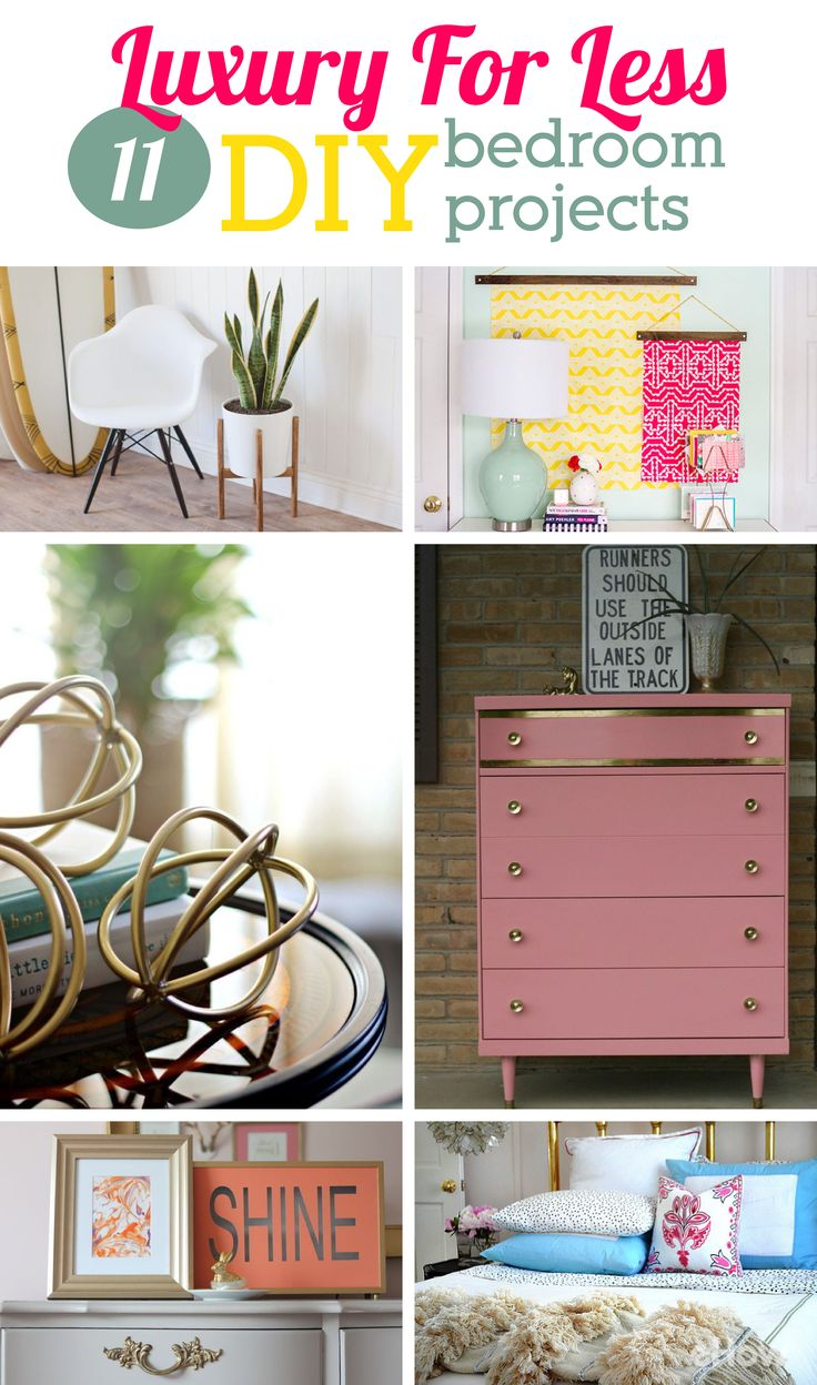 11 DIY bedroom projects that look like you spent way more money than you did! Some of these easy DIYs are Anthropologie-inspired and some and amazing furniture makeovers!  http://www.ehow.com/how_12340989_luxury-less-11-diy-bedroom-projects.html?utm_source=pinterest.com&utm_medium=referral&utm_content=curated&utm_campaign=fanpage