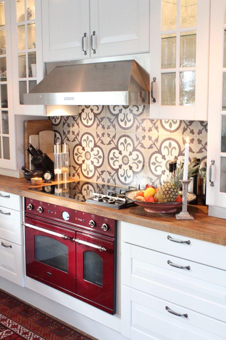 My kitchen #kitchen #interior #lantkök #ilve #oven #spis #decoration #marrakech #kakel