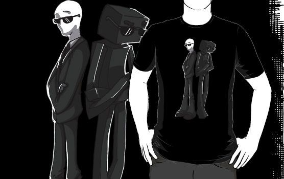Slender Man and Enderman Minecraft T-Shirt