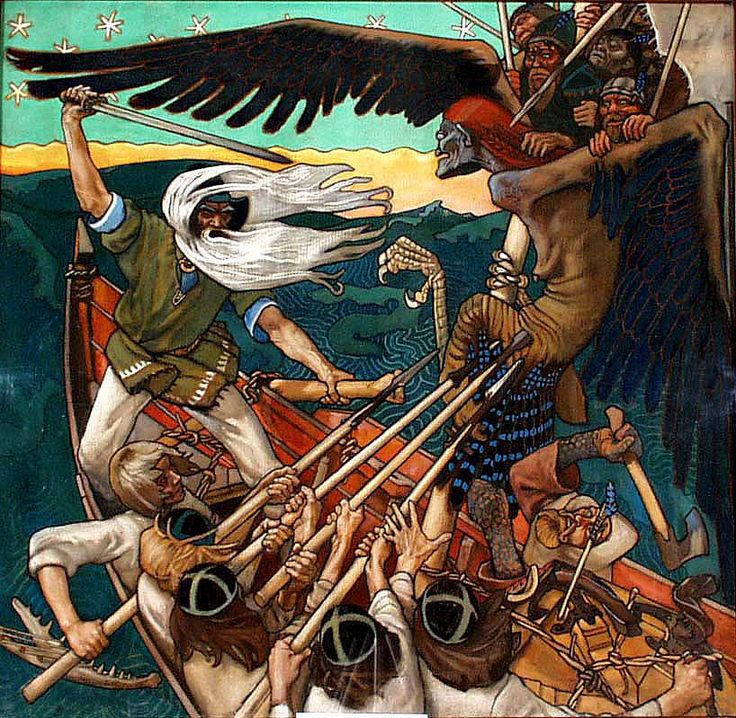 Axel Gallén: The Defence of the Sampo, 1896.