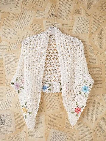 vintage crochet shawl  #vintage #crochet
