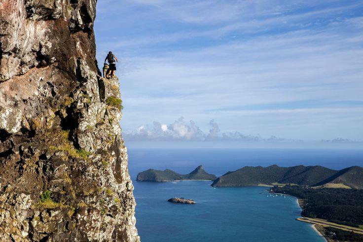 Scrambling on Mt Lidgbird | Lord Howe Island