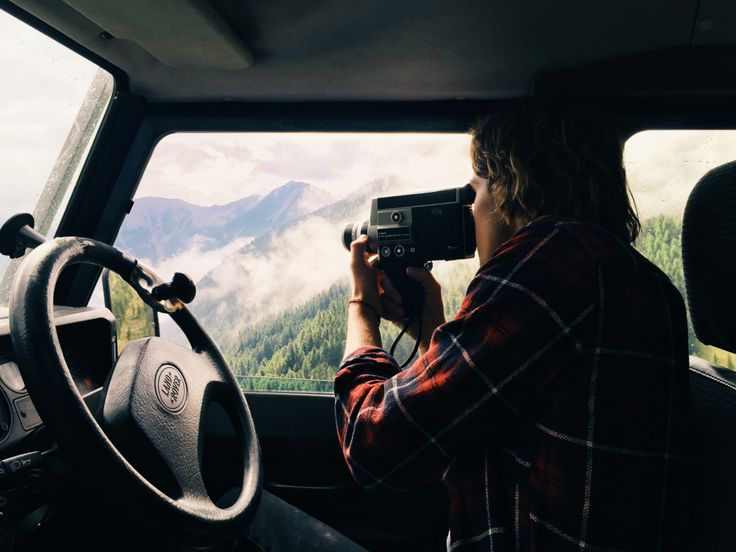 """adriansbliss: """" Jack shooting the Alps from our adventure-mobile. """""""