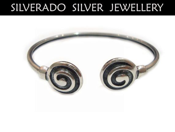 Ancient Greek Eternity Spiral Key Bangle by SilveradoJewellery, €49.00