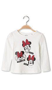 Camiseta de manga larga de Minnie Mouse en blanco roto