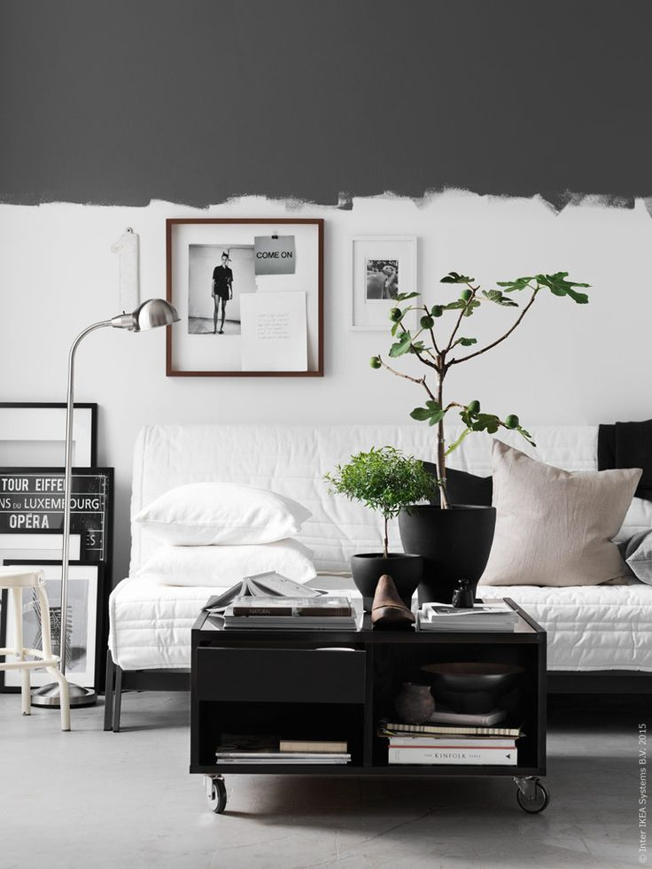 half-painted walls | styling inspiration