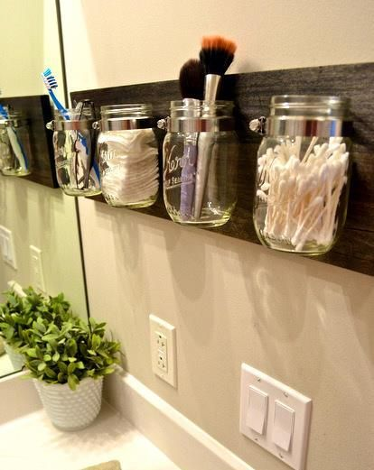 Awesome and oh so simple idea for a bathroom.