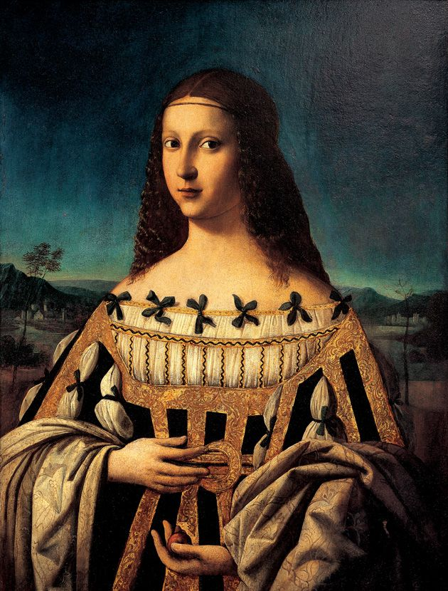 1490s Beatrice d'Este by Bartolomeo Veneto (Snite Museum of Art, University of Notre Dame South Bend Indiana USA)