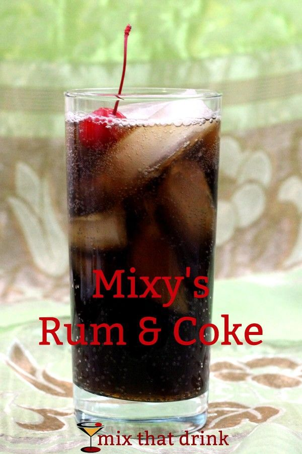 There are many variations on the standard Rum 'n' Coke cocktail. Mixy's Rum and Coke drink recipe adds amaretto to bring out the almond-cherry flavor of the cola. You can make it with regular or diet cola.