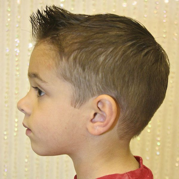 Boy Haircut Spiked In The Front