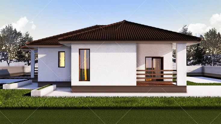 case cu doua dormitoare Two bedroom single story house plans 5