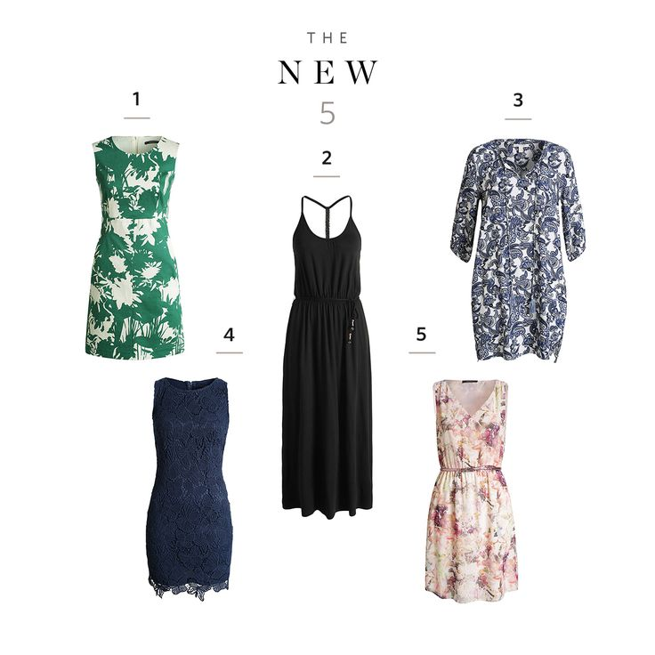 Short, long, #colourful or simple? Ice cream date, beach or garden party? 5 #dresses. 5 #looks. Why not take all of them?