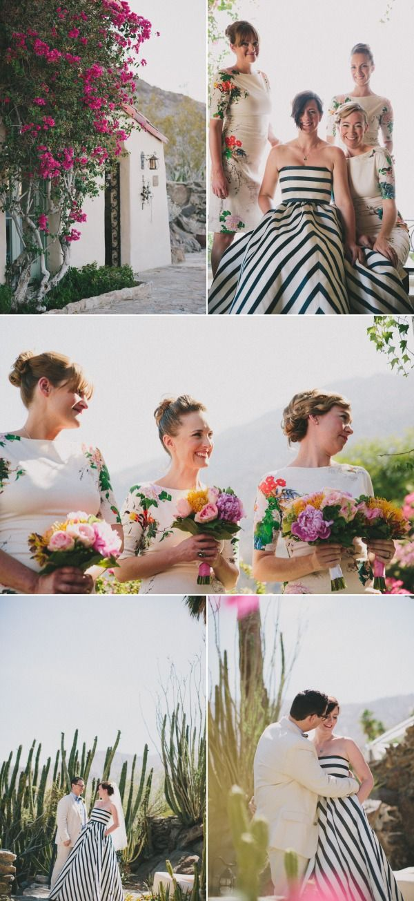 striped wedding dress check floral bridesmaid dresses check