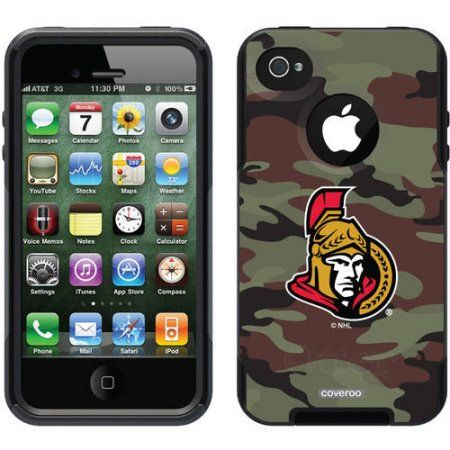 Ottawa Senators Traditional Camo Design on OtterBox Commuter Series Case for Apple iPhone 4/4s