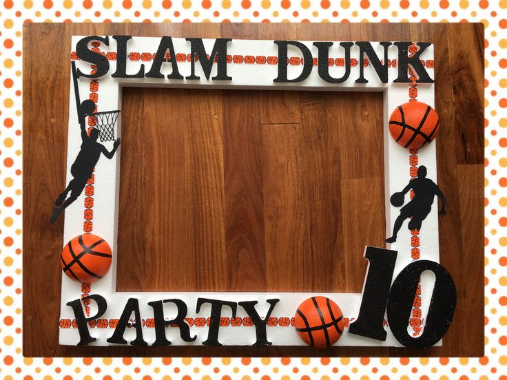 Basketball Party Photo Frame