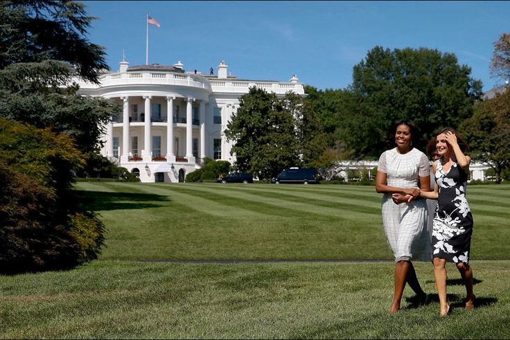 Michelle Obama welcomed Queen Letizia of Spain to the White House, on September 15, 2015
