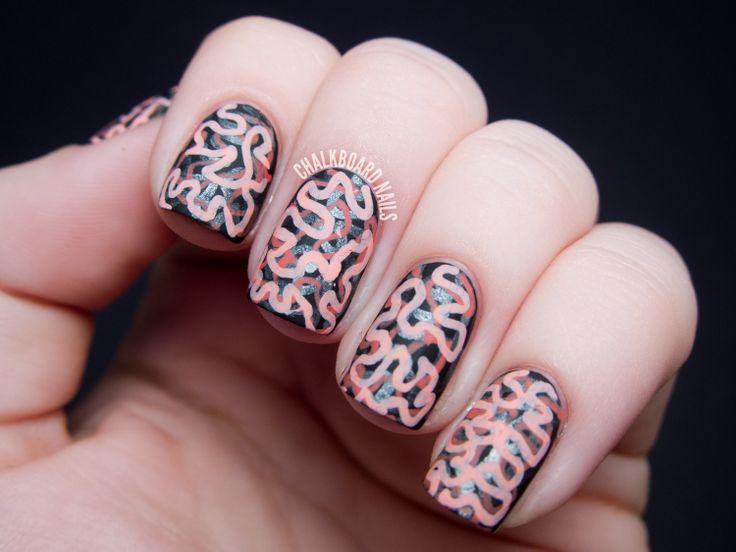 Best 25 graffiti nails ideas on pinterest dope nail designs matte brain graffiti nail art prinsesfo Images