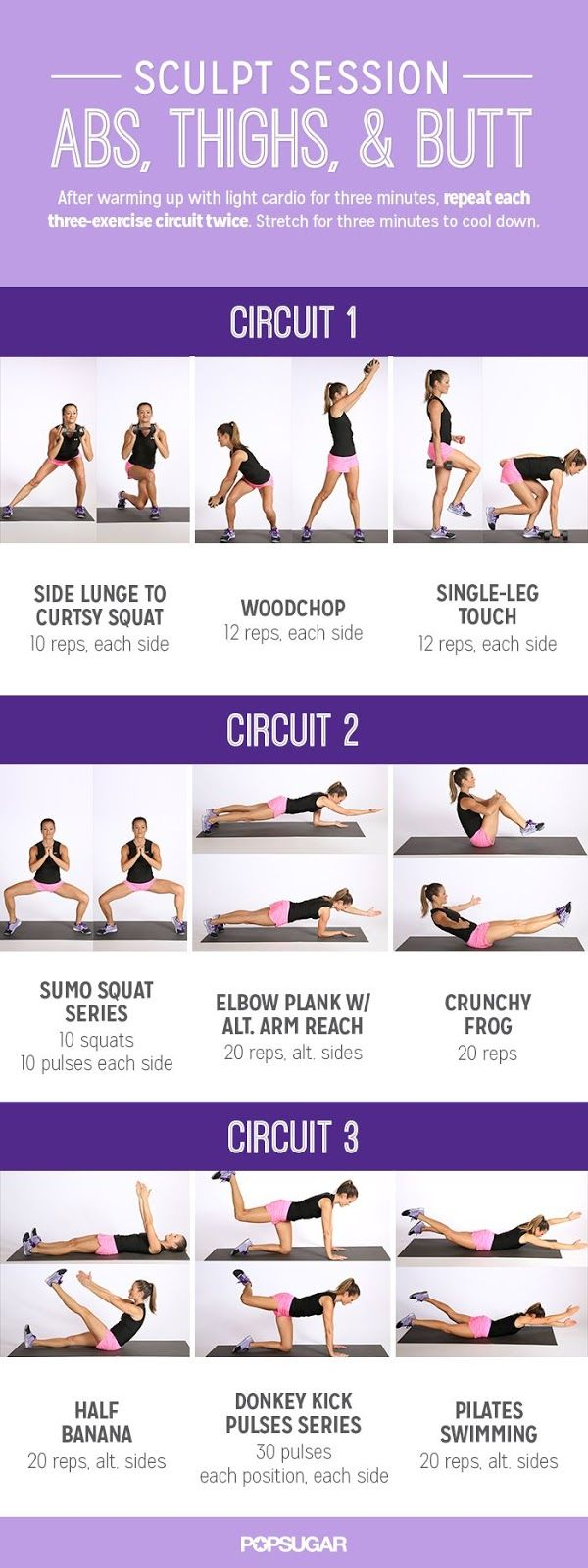 Real College Student of Atlanta: June fitness challenge {Sculpt Session via Popsugar}