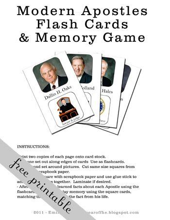 apostle flash cards