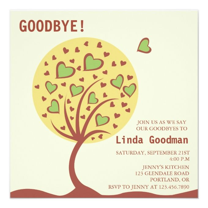 Best  Farewell Invitation Card Ideas On   Farewell