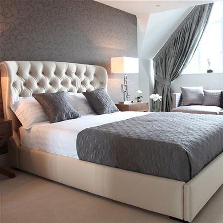 bedding samoa upholstered king size bed beige silk fabric luxe bedroom pinterest