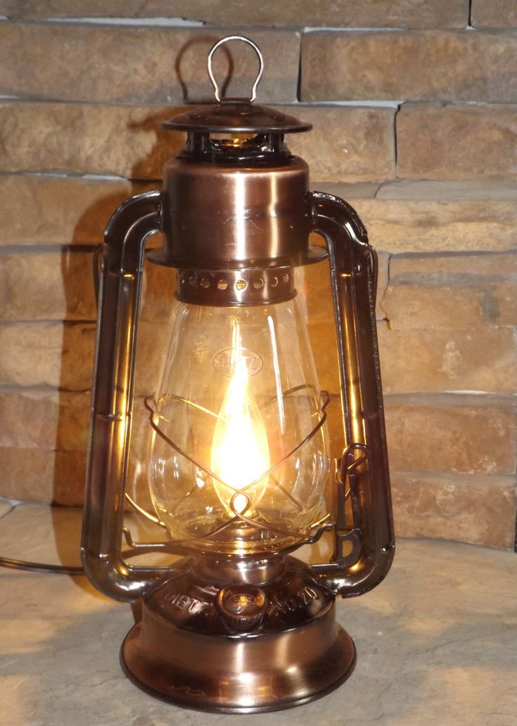 Dietz Junior Electric Lantern Lamp - Copper-Bronze ...