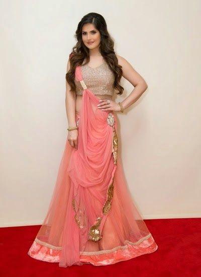 Zareen Khan looking gorgeous in Ghagra Choli