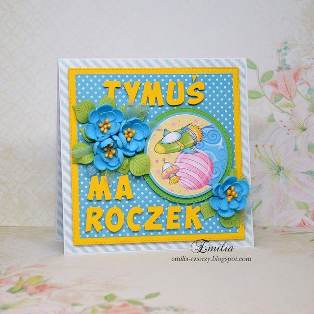 Emilia tworzy: Kartka na roczek/First birthday card