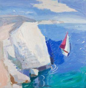Julian Bailey Yacht Sailing by Cliffs