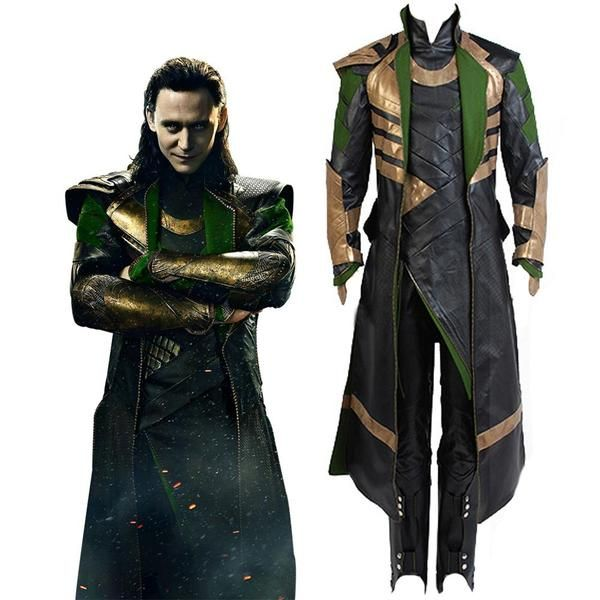 Avengers Thor 2:Dark World Loki Tom Hiddleston Outfit Cosplay Costume Halloween