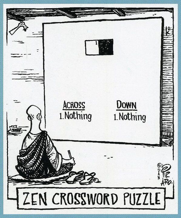 Zen crossword