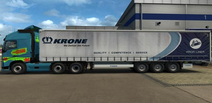 Ets2 Hq Paint Job For Long Curtain Trailers V1 11 1 35 X