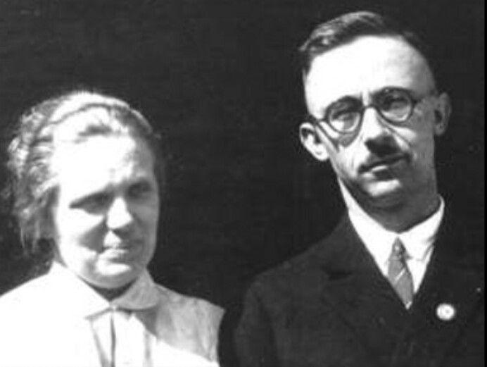 """A young Himmler with his wife Margarete """"Marga"""" Boden, Frau Himmler."""