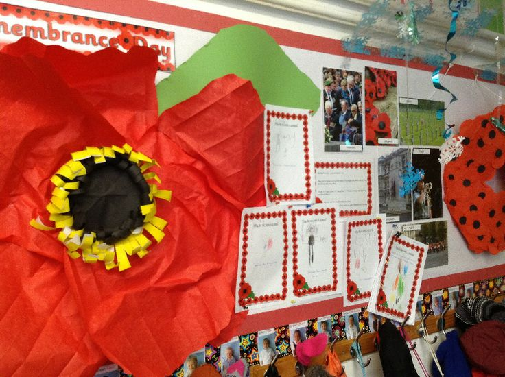 Remembrance Day classroom display photo - SparkleBox
