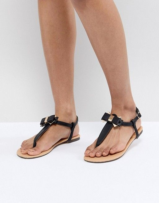 Oasis | Oasis Bow Toe Post Sandals